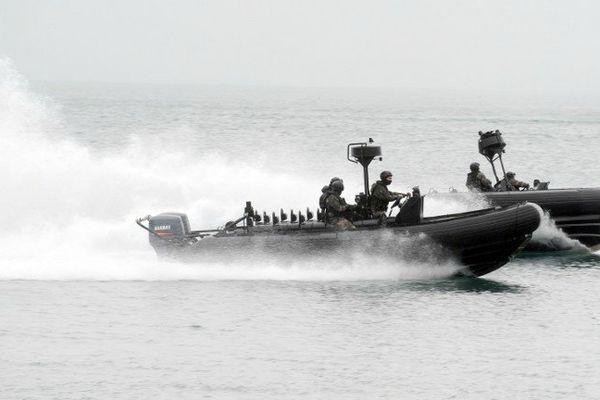 Des commandos de marine à l'entraînement