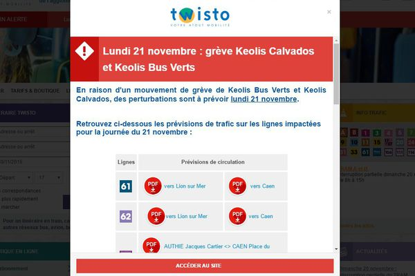 Des perturbations sont à prévoir sur les réseaux Kéolis Calvados et Keolis bus verts
