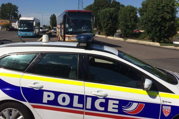 Contrôle des bus sur l'A31 à Metz