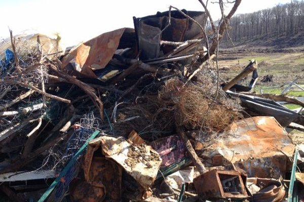 De nombreux déchets doivent être évacués