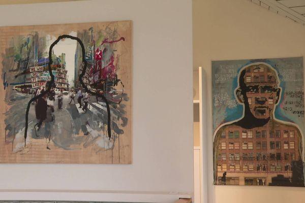 Les différents univers de l'artiste, CharlElie Couture, s'expriment dans ses tableaux.