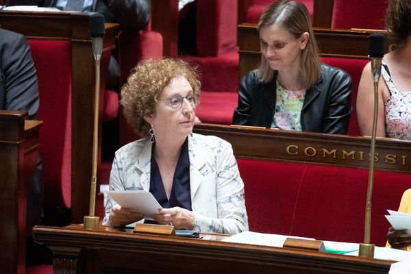 Muriel Pénicaud lors d'une séance de questions au gouvernement le 23 juillet 2019.