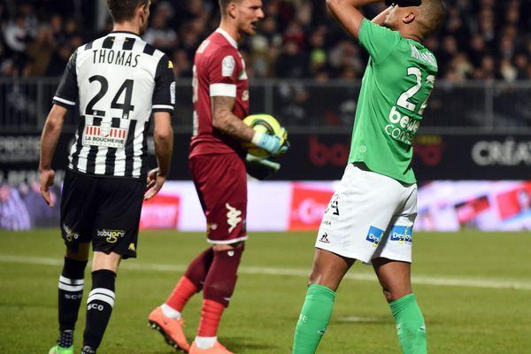 KEVIN MONNET PAQUET ASSE MATCH DE FOOTBALL LIGUE 1 SCO ANGERS CONTRE L'ASSE