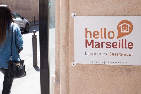 Centre d'hébergement mis en place par MSF, rue Breteuil à Marseille.