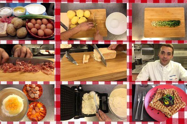 Les étapes de la recette des gaufres de pommes de terre
