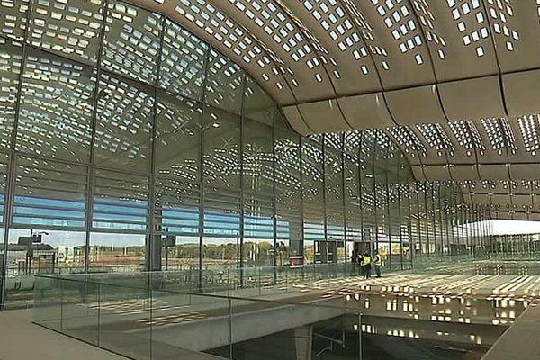 Montpellier - la nouvelle gare TGV Montpellier Sud de France - octobre 2017.