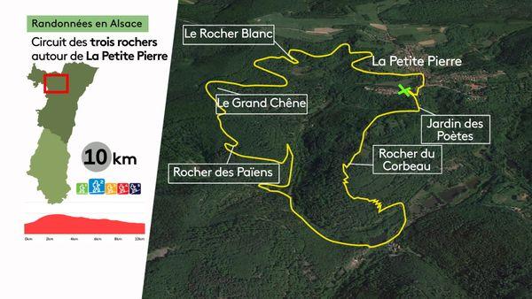 Le parcours est une boucle de 10 kilomètres.