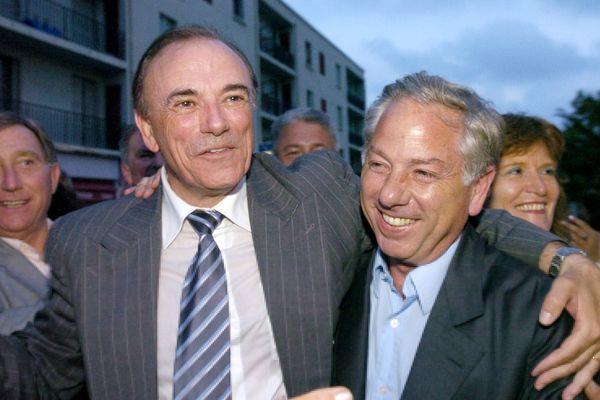 Sauveur Gandolfi-Scheit (à gauche) et Camille de Rocca Serra (à droite), le 18 juin 2007.