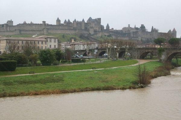 Carcassonne - le cité - janvier 2013.