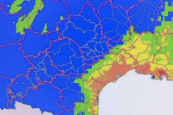 Les cartes de Météo-France sont scrutées par les pompiers du Tarn.