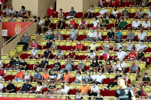Le dimanche 23 août 2020 au stade Louis II de Monaco lors de la rencontre AS Monaco - Stade de Reims, 1ère journée de championnat de France 2020/2021.