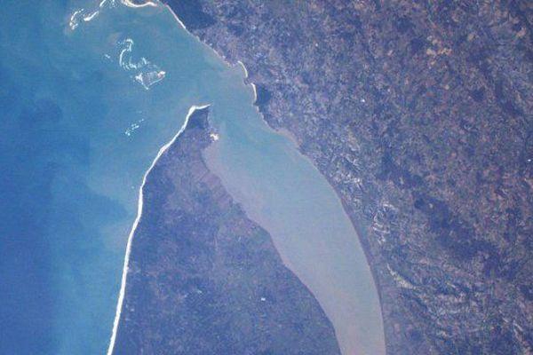 L'estuaire de la Gironde vu du ciel par Thomas Pesquet