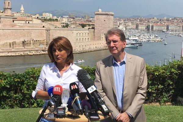 Martine Vassal et Guy Teissier (LR)