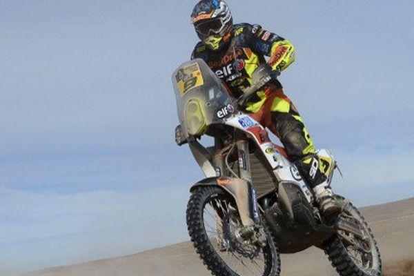 David Casteu (KTM) lors de la 9e étape du Dakar 2015 au Chili.