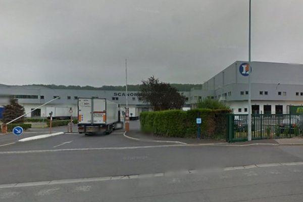 Le Sca normande, la plateforme de distribution de Leclerc à Lisieux qui alimente 35 magasins de la région.