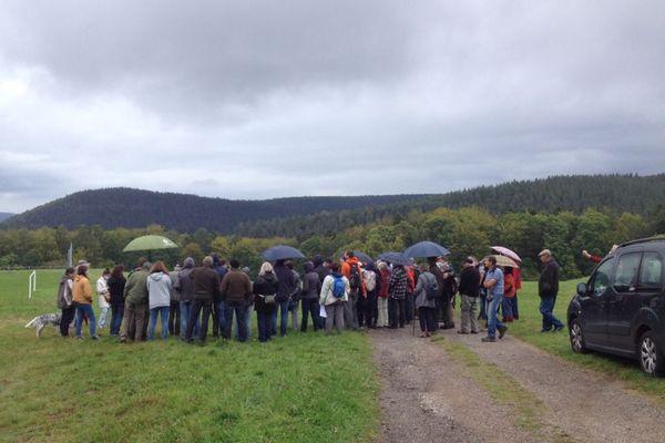 Rassemblement contre le trail center à Wangenbourg