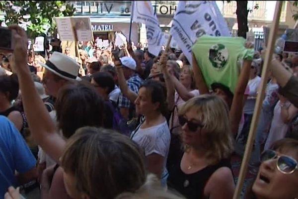 Des centaines de personnes ont manifesté à Draguignan contre la cruauté envers les animaux