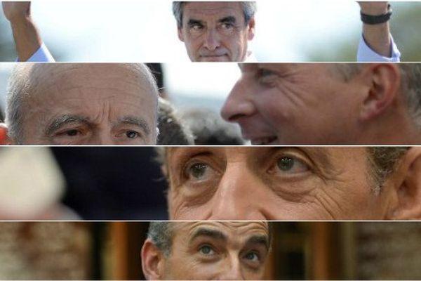 François Fillon, Alain Juppé, Bruno Le Maire, Nicolas Sarkozy et Jean-François Copé (©Xavier Leoty&Jean-Sébastien Evrard / AFP)