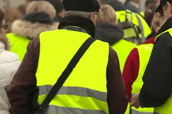 Manifestation des Gilets Jaunes à Niort le samedi 9 février 2019.