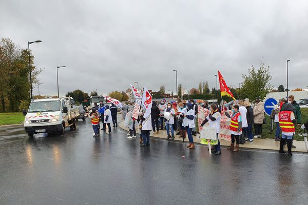 Manifestation à Barentin (76), près de Rouen