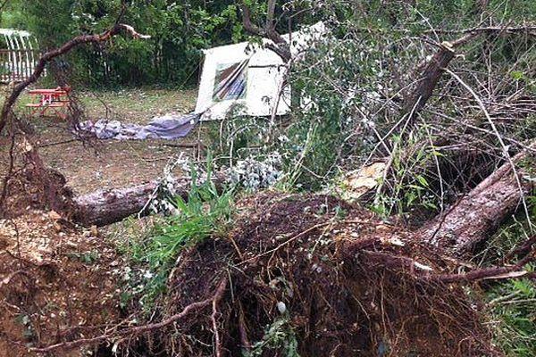 Saint-Paulet-de-Caisson (Gard) - une tourisme hollandaise de 46 ans a été tuée par la chute d'un arbre sur sa tente - 21 juillet 2014.