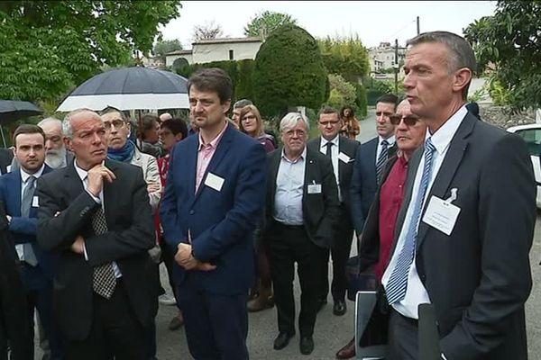 Rencontre entre des élus de Biot et des élus de l'Aude, le 2 mai, sur les bords de la Brague