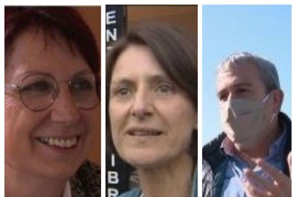 Anne Vignot (Besançon), Marie-Noëlle Biguinet (Montbéliard) et Patrick Genre (Pontarlier) avec l'Association des maires ruraux du Doubs unissent leurs voix pour soutenir les commerces.