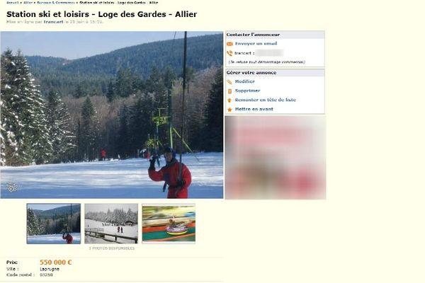 La vente est pour le moins insolite mais bien réelle. La station de ski de la Loge des Gardes, située dans le département de l'Allier, cherche repreneur sur...internet !