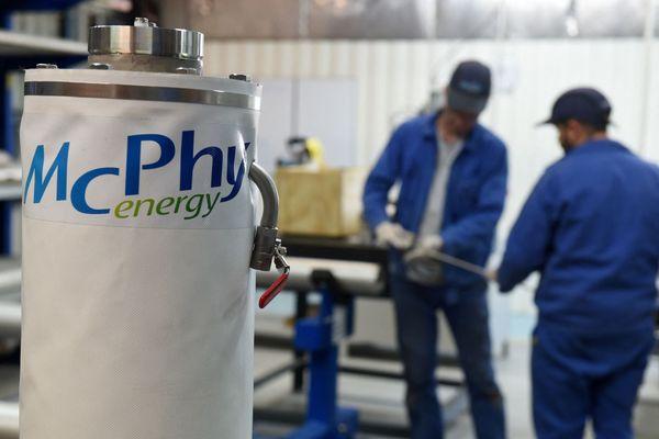 La société McPhy Energy à La Motte-Fanjas, dans la Drôme
