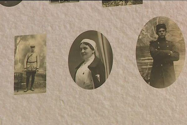 Quelques visages des victimes belfortaines de la Grande Guerre sur les grilles de la préfecture
