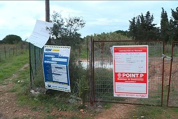 Site d'installation d'une future antenne relais à Pérols (Hérault)