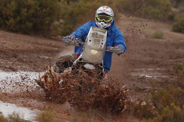 Le motard deux-sévrien Guillaume Chollet sur le Dakar 2017.