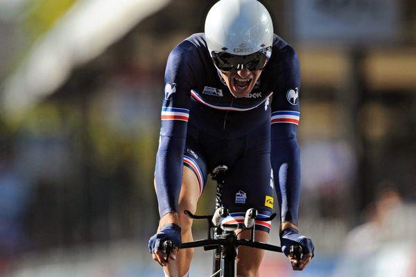 Le cycliste Yoann Paillot, en 2013.