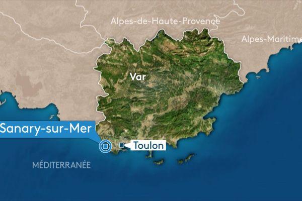 L'accident s'est produit sur l'A50, au niveau de Sanary-sur-Mer