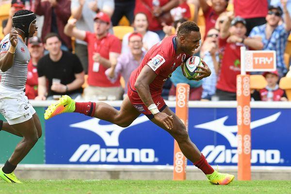 Nabuli lors d'un match à Brisbane en Australie le 15 avril 2017.
