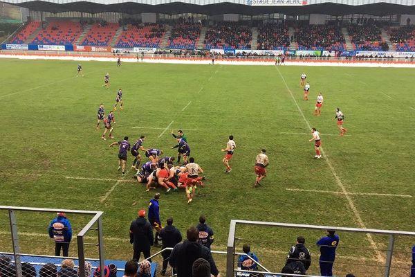 Le Stade Aurillacois s'impose à Jean Alric contre Angoulême 13 à 10 en 17 éme journée de Pro D2.