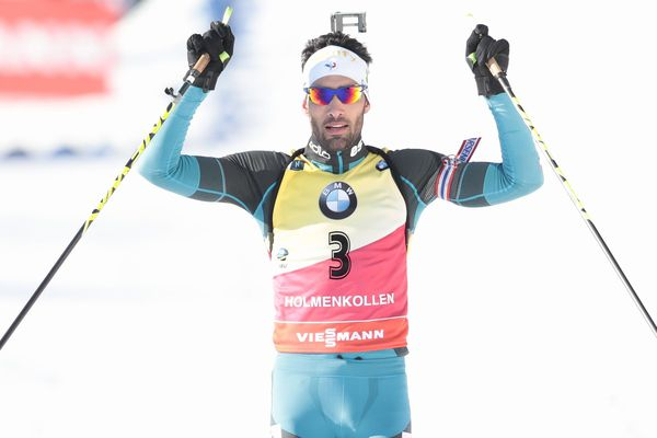 Le Catalan Martin Fourcade lors de sa victoire sur la poursuite d'Oslo - 17 mars 2018