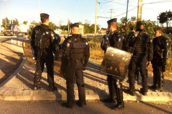 La police sécurise les site pétrolier