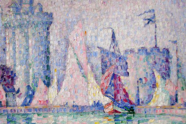 """""""Le port de la Rochelle"""", toile de Paul Signac."""