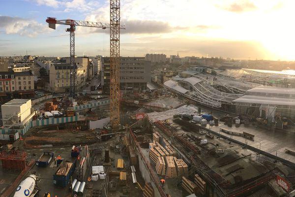 La gare de Rennes subit de gros travaux