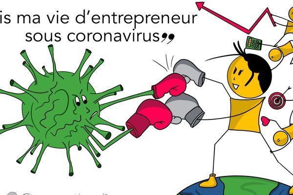 """Le premier """"serious game"""" autour du coronavirus, pour vivre le quotidien d'un entrepreneur en face de la crise"""