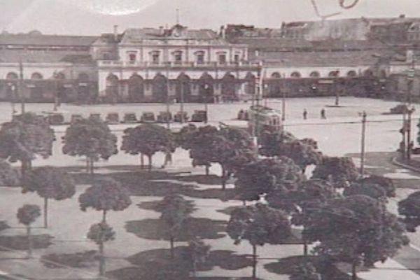 La gare de rennes en 1958