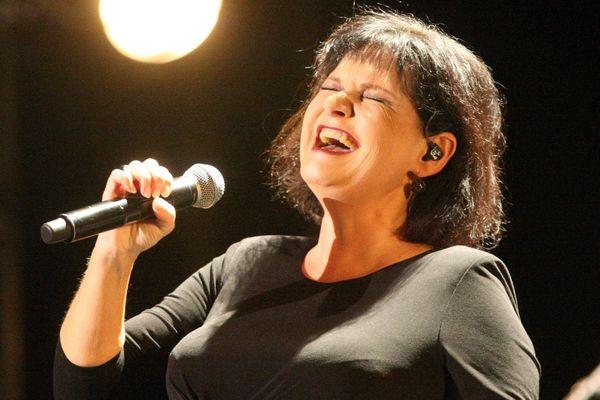 Maurane en concert à Sausheim en Alsace, en novembre 2012