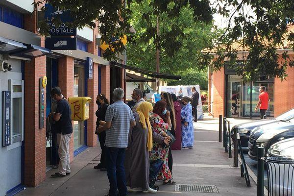 Toulouse - Quartier Bellefontaine ce lundi matin. Dans certains bureaux de vote du Mirail, 70% des électeurs n'ont pas voté. 28 juin 2021.
