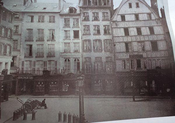 Le quartier de la rue au Change avant l'incendie du 9 juin 1940