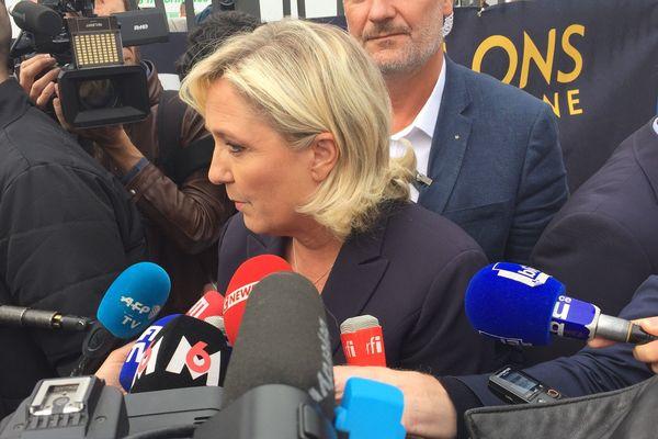 La rentrée politique de Marine Le Pen est très attendue par les médias / Foire de Châlons, 7 septembre 2018
