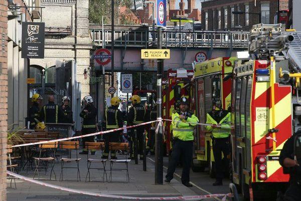 De nombreuses personnes ont été brûlées au moment de l'explosion.
