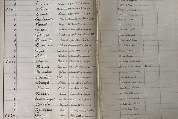 Photo de la page du registre des anciens étudiants de l'année 1941-1942. Le nom de Marcel Mangel y est inscrit, preuve de son passage.