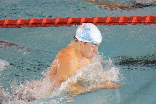 Thomas Rabeisen lors des championnats de France de Natation à Rennes