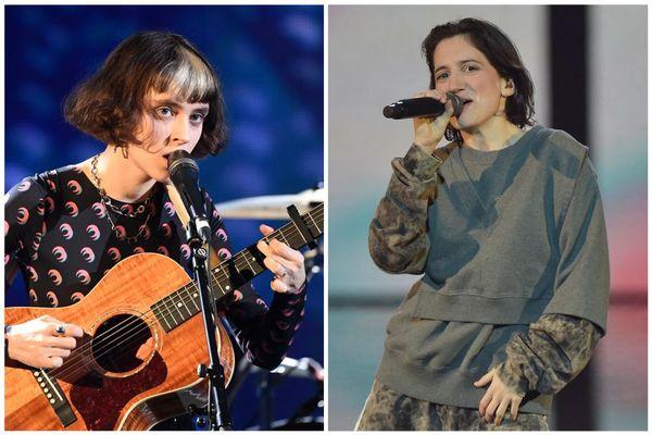 Pomme et Aloïse Sauvage aux Victoires de la Musique le 14 février 2020.
